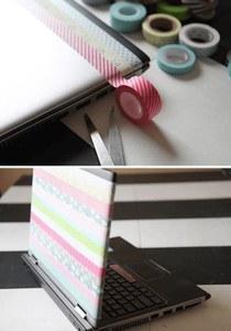 Colorez votre ordinateur grâce à du masking tape