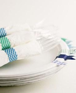 Créez des ronds de serviettes originaux avec du masking tape