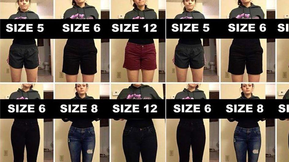 Warum deine Kleidergröße nichts über deine Figur aussagt - diese Bilder sind der Beweis!