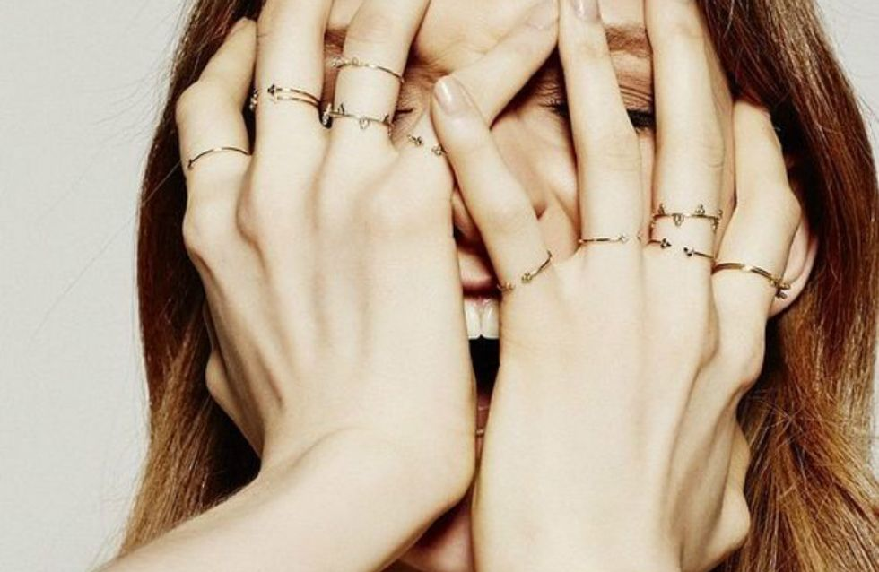 Misturar anéis delicados é a pedida da vez