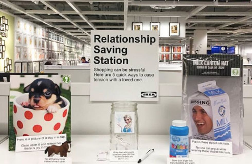 Comedian Installed A Relationship Saving Station In Ikea And We Never Knew We Needed It So Much