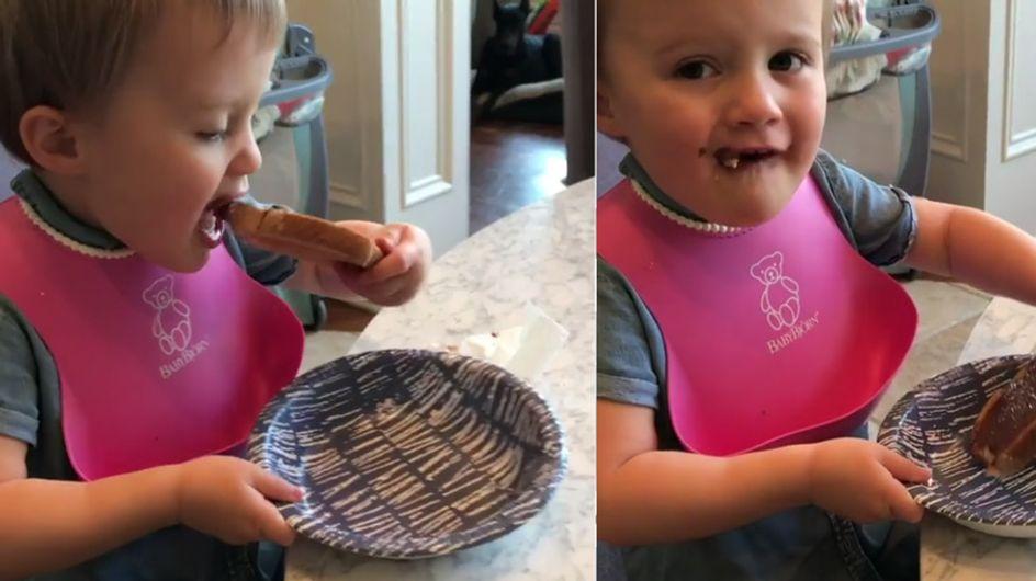 Diese Mama gibt ihrer Kleinen Nutella - SO krass reagieren andere Mütter im Netz darauf