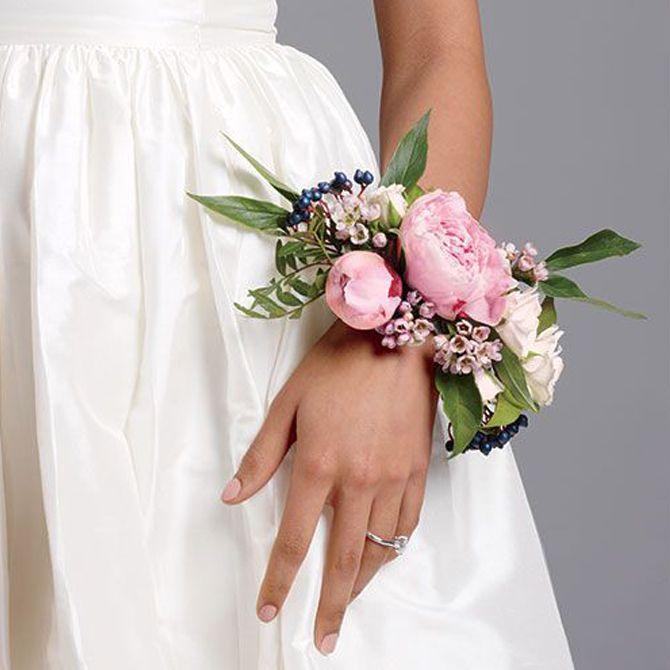 Bouquet da sposa da polso