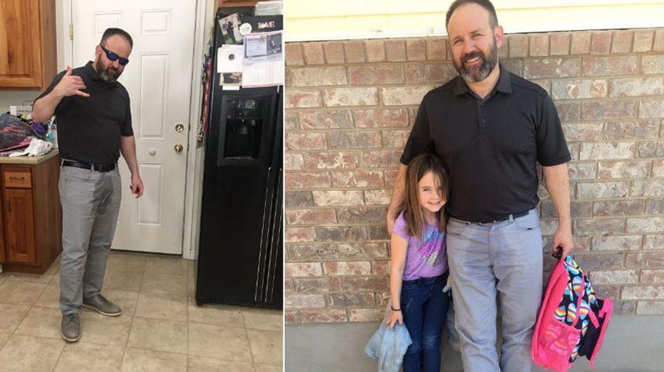 """Papa des Jahres: Weil seine Tochter sich für ihr """"Missgeschick"""" schämte, tat er etwas Einmaliges"""