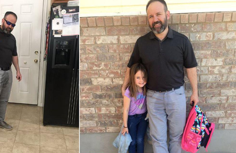 Papa des Jahres: Weil seine Tochter sich für ihr Missgeschick schämte, tat er etwas Einmaliges