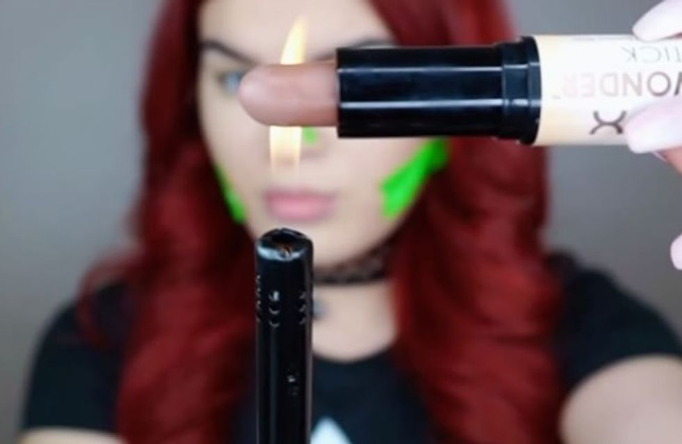 This 'Lit' Makeup Hack Is As Dangerous As It Looks