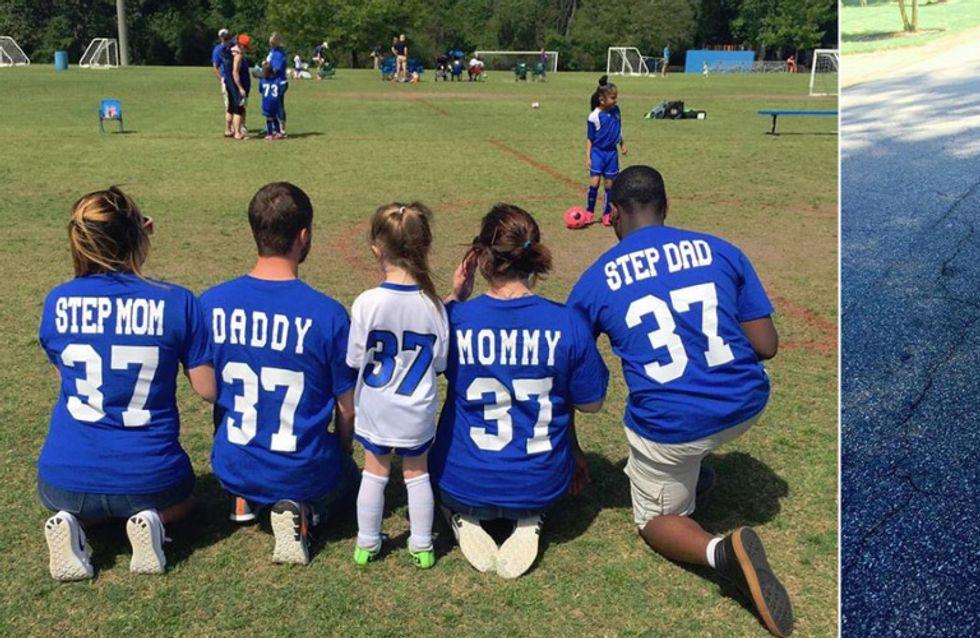 Parade-Beispiel für eine Patchwork-Familie: Diese 4-Jährige hat den wohl genialsten Fanclub