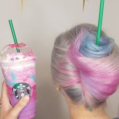 This Starbucks Unicorn Frappuccino Hair Is All Our Fantasies Come True