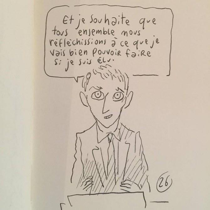 L'illustrateur Joann Sfar a dessiné le premier tour des élections et ça fait du bien