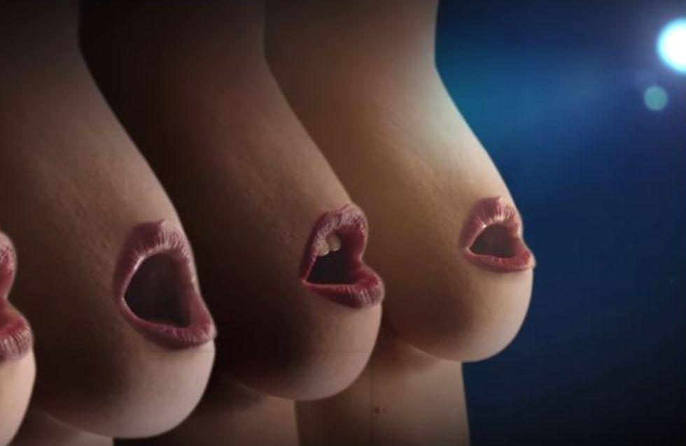 Des tétons qui chantent pour sensibiliser au cancer du sein (vidéo)