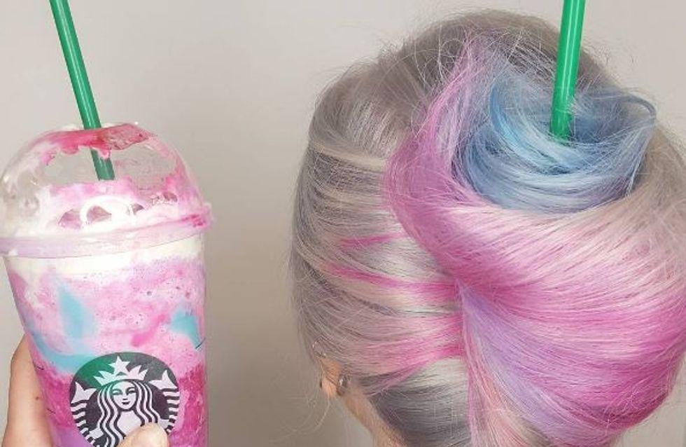 Quand le Frappuccino Licorne inspire les beautistas (photos)