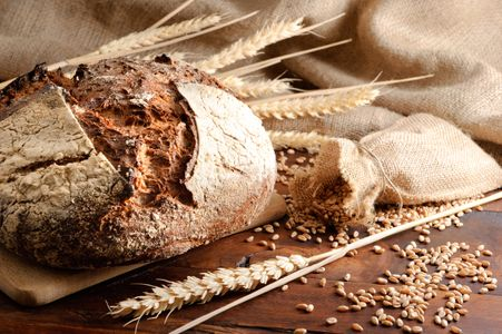 Pan elaborado con harinas que contengan gluten