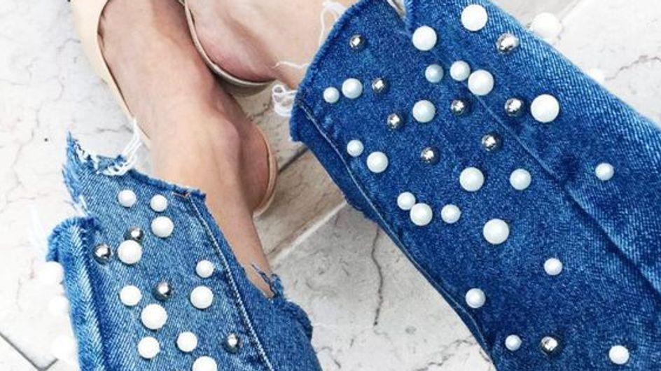 Denim + perlas: la combinación que es tendencia y querrás ya en tu armario