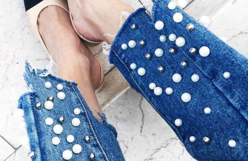 Pantalones Vaqueros Con Perlas