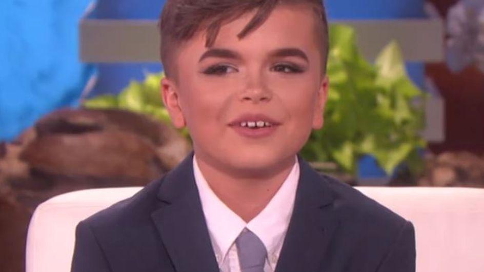 Harcelé parce qu'il se maquille, ce garçon de 12 ans témoigne sur le Ellen DeGeneres Show (vidéo)