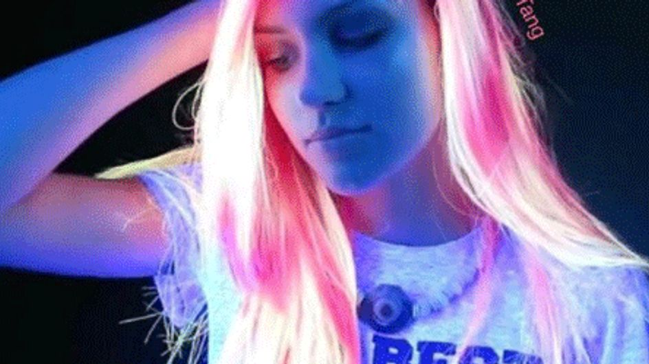 If You Thought Rainbow Hair Was Cool, Wait Until You See Glow-in-the-Dark Rainbow Hair