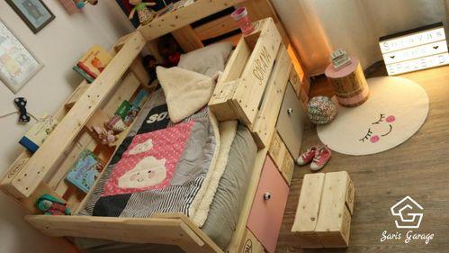 DIY-Kinderbett aus Holzpaletten