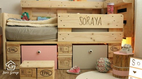 Individuelles Kinderbett aus Paletten