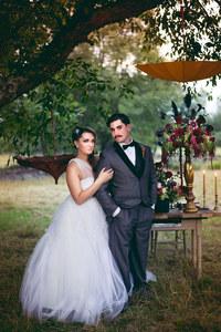 Brautpaar im Zirkuslook