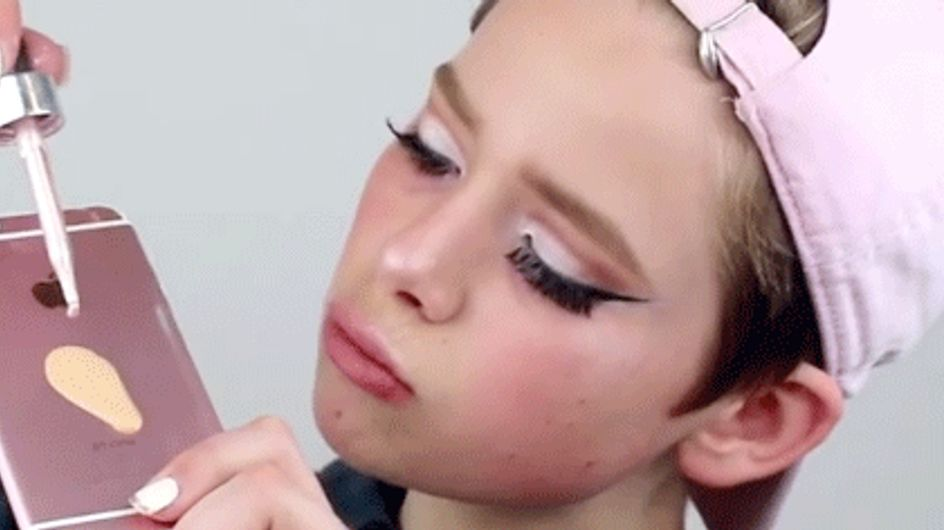 This 15 Year Old Boy Is Using His iPhone To Apply His Fleeky Makeup