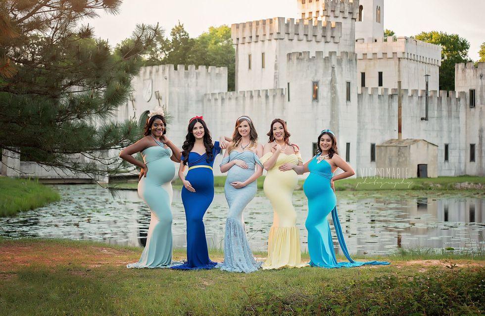 Ces futures mamans posent en princesses Disney pour notre plus grand plaisir (Photos)