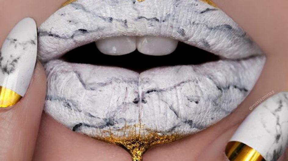 Marble Lips, la tendencia que dejará tus labios de piedra