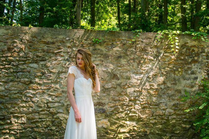 Robe de mariée romantique, Adeline Bauwin