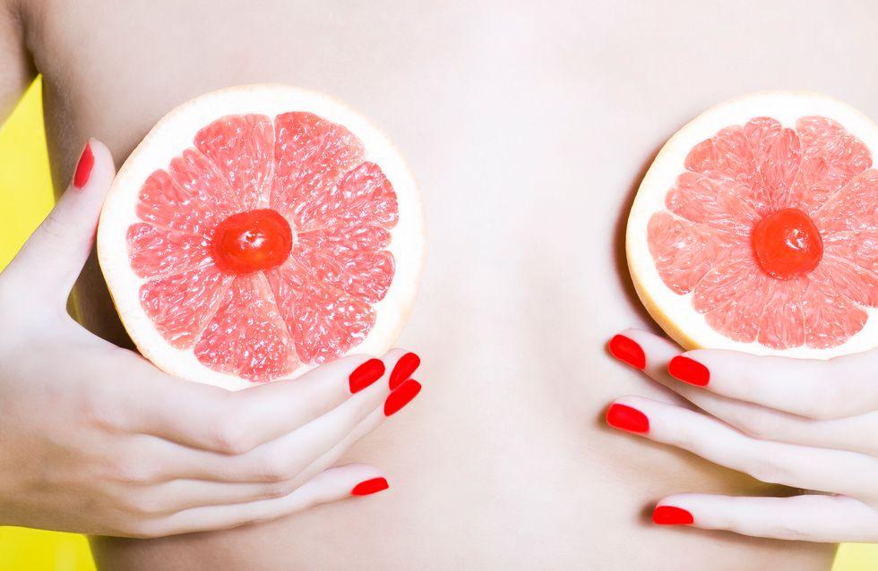 Trouvez la teinte idéale de rouge à lèvres grâce à la couleur de vos tétons !