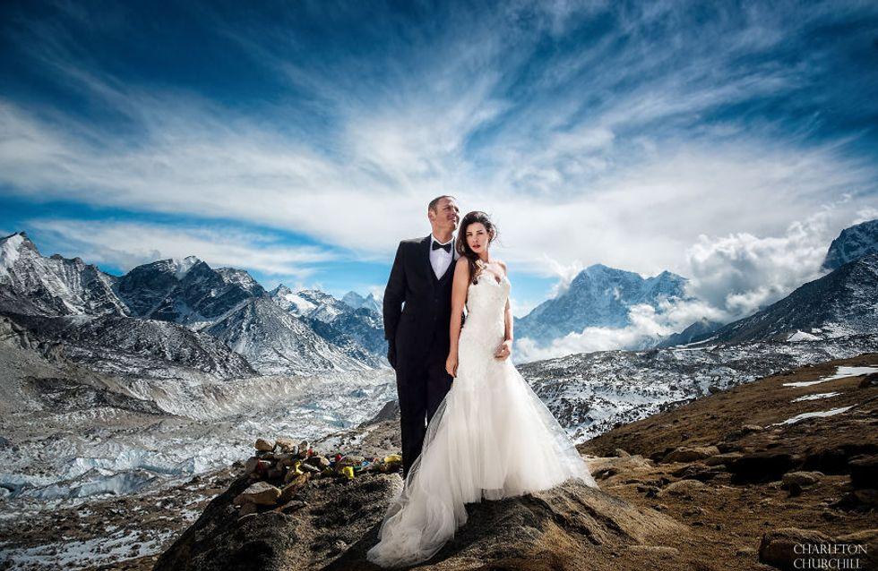 ¡Casarte a más de 5.000 metros de altura! Las épicas fotos de una boda en el Everest