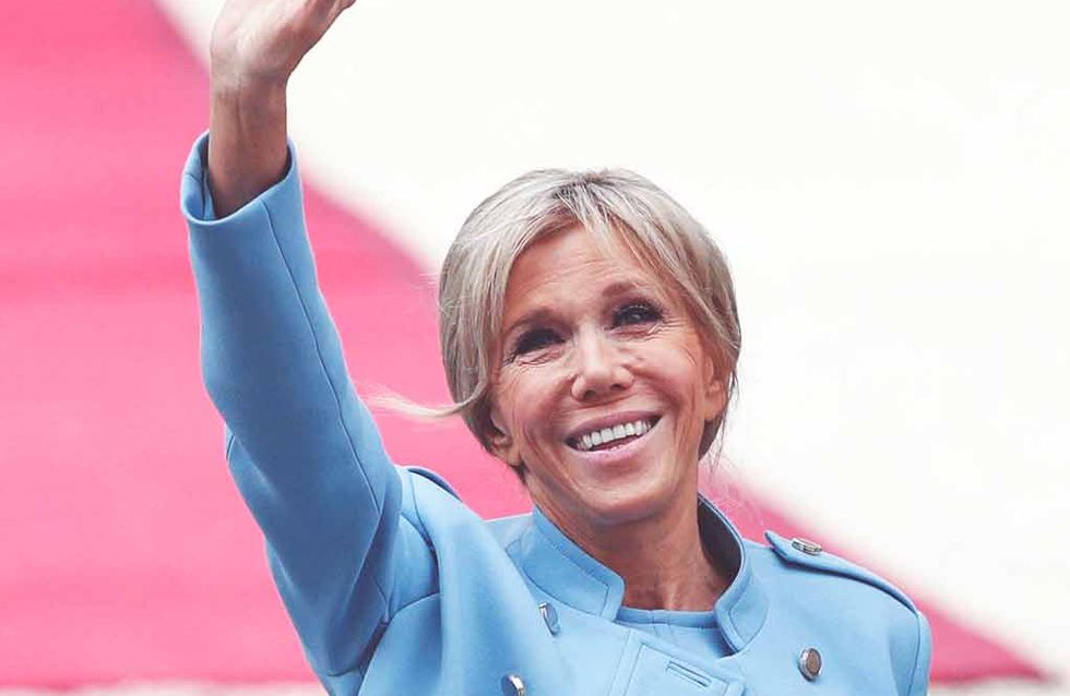 Brigitte Macron fait sensation dans un ensemble Louis Vuitton (Photos)