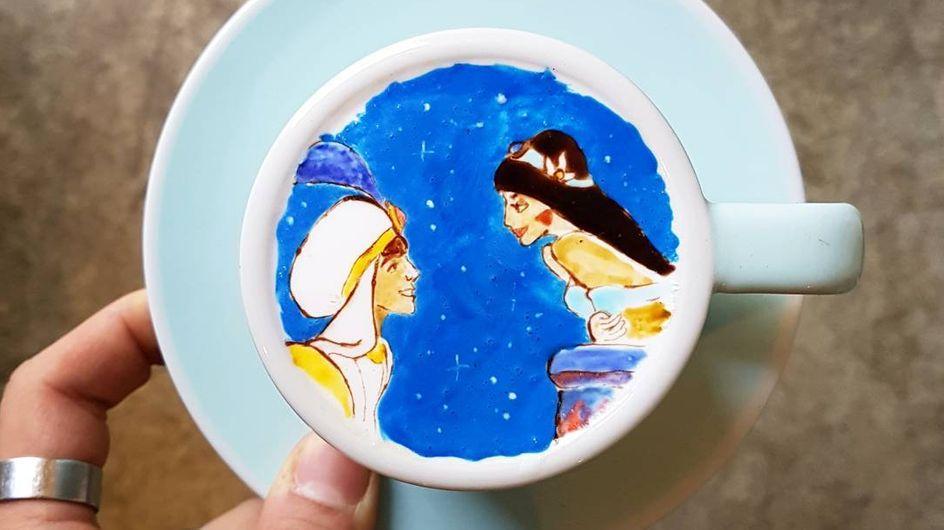 Estas tazas de café son verdaderas obras de arte, ¡mira cómo se hace!