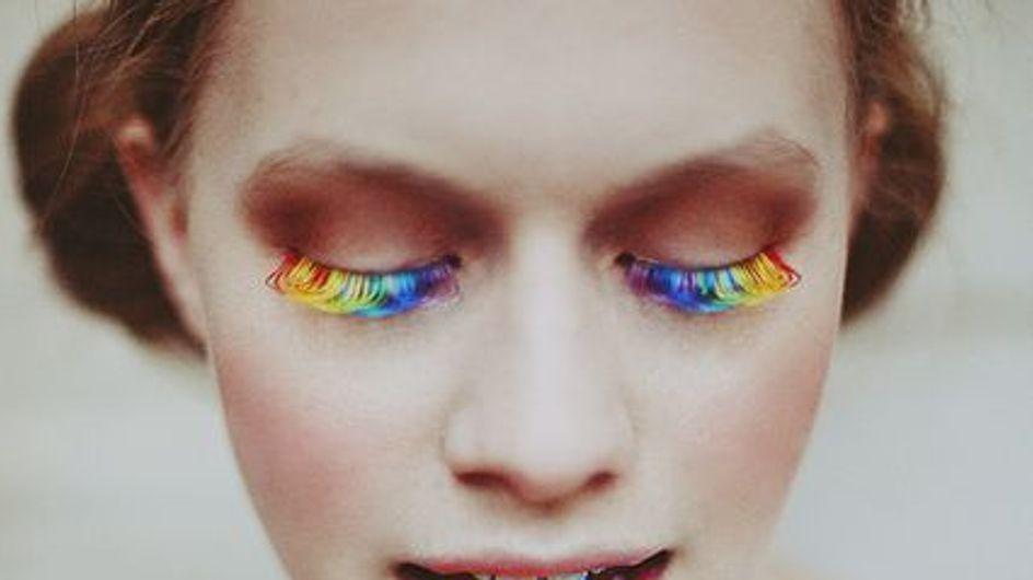 ¡Arriba el color! Llegan las pestañas de arcoíris