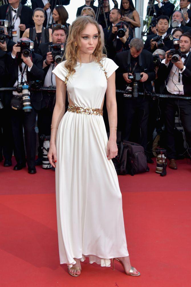 Lily-Rose Depp au Festival de Cannes, le 17 mai 2017