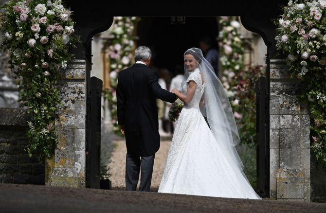 Pippa Middleton le jour de son mariage