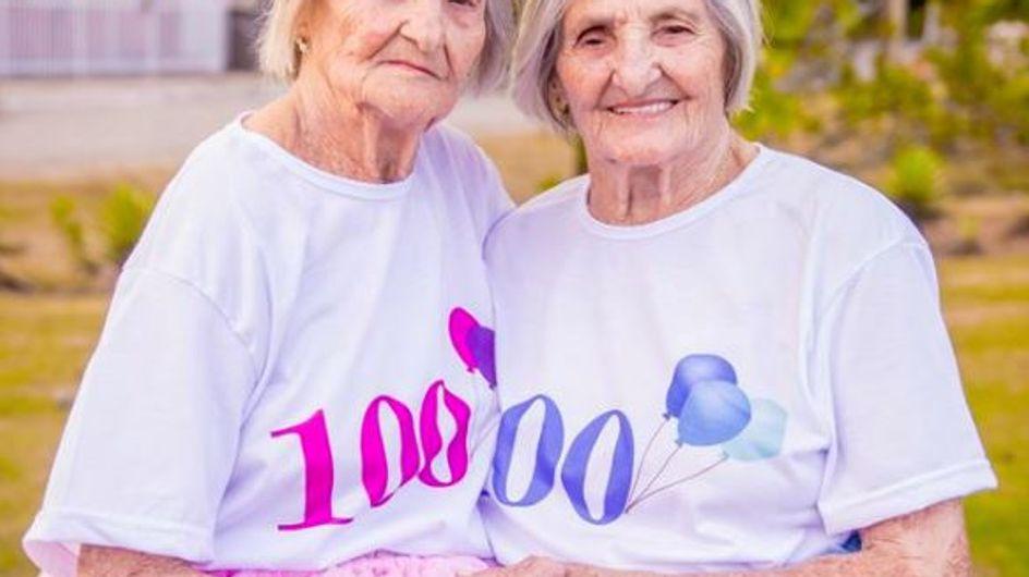 100 Jahre Geschwisterliebe: So süß feiern diese Zwillinge ihr gemeinsames Jahrhundert