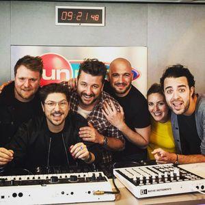 Quentin Mosimann et l'équipe de Fun radio
