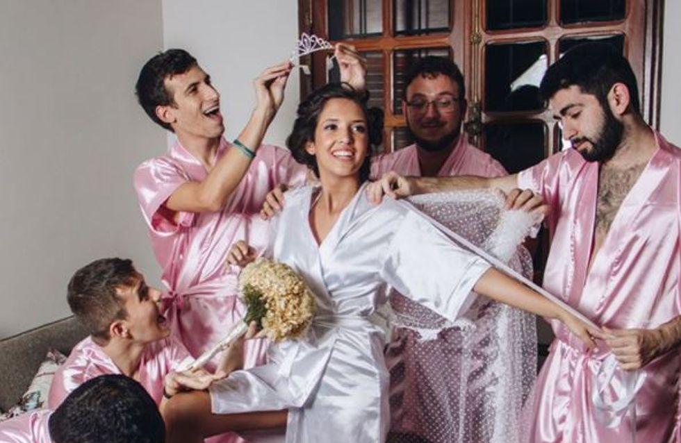 Cette future mariée a les meilleures des demoiselles d'honneur (Photos)