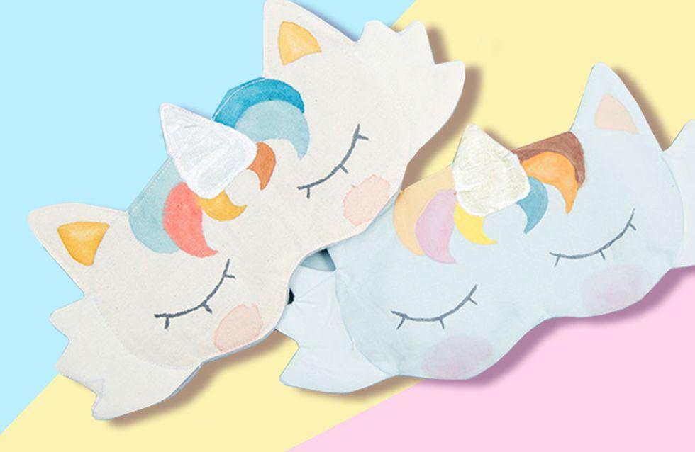 Fabelhaft: So einfach nähst du diese süße DIY-Einhorn-Schlafmaske selbst