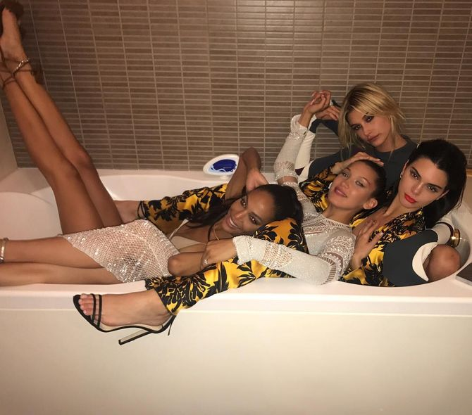 Joan Smalls, Bella Hadid, Kendall Jenner, Hailey Baldwin