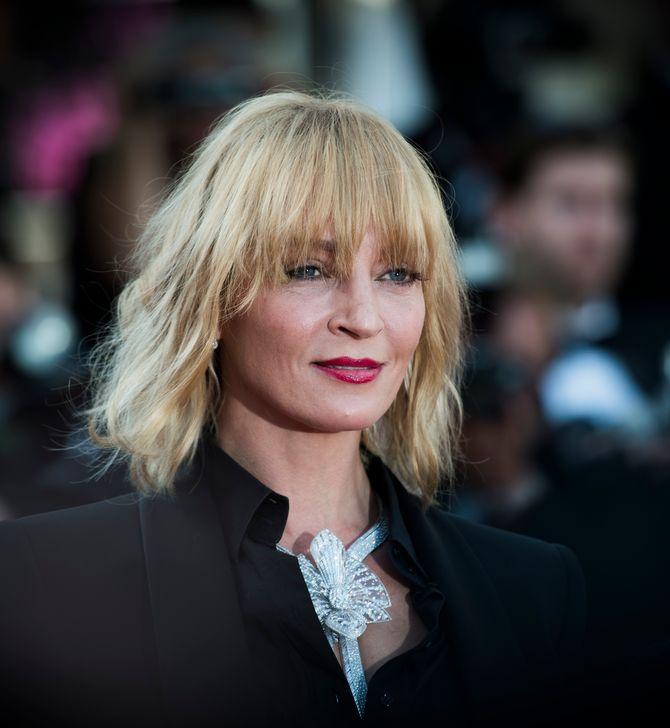 and Uma Thurman charme la Croisette avec son look tailleur ultra élégant...