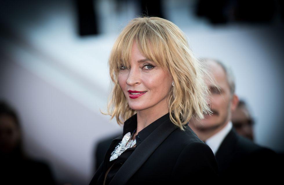 Quand Uma Thurman charme la Croisette avec son look tailleur ultra élégant...