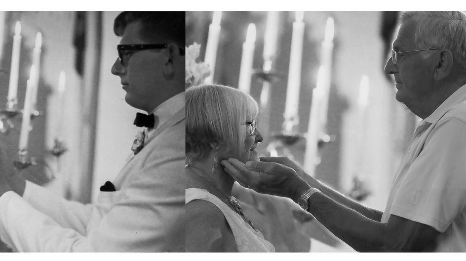 Nach 50 Jahren stellen sie ihr Hochzeitsfoto nach. Ein Detail rührt beide zu Tränen.