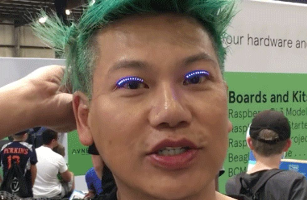 LED Light False Eyelashes Now Exist And They're LIT