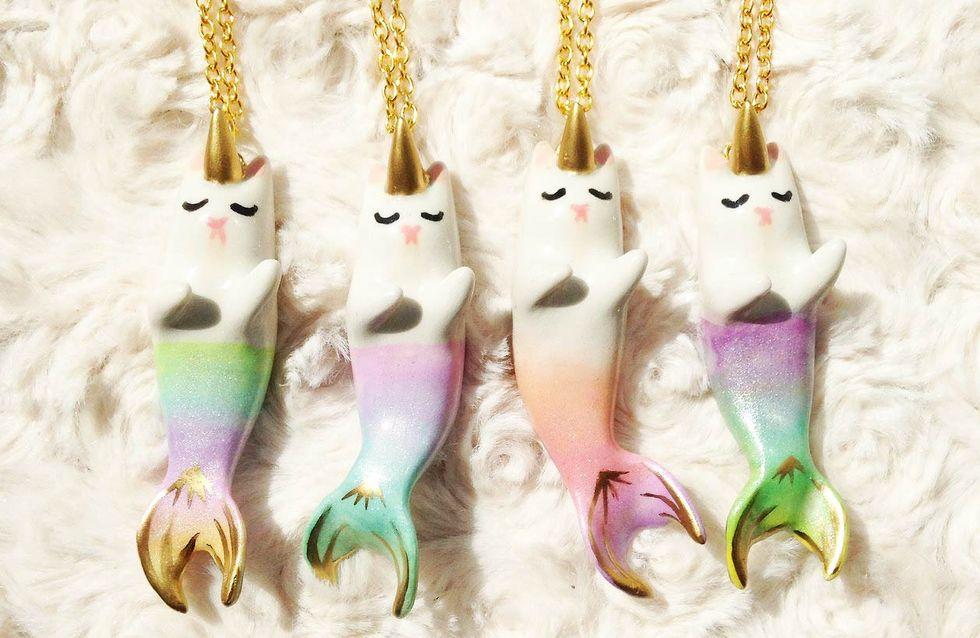 Ces adorables colliers chat-sirène-licorne font craquer la Toile (Photos)