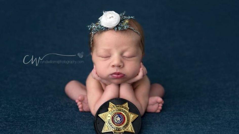 L'histoire qu'entretient ce nourrisson avec la police est juste adorable ! (Photos)