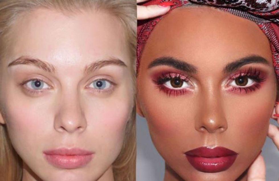 Ce maquilleur transforme une femme blanche en femme noire et crée la polémique (Photos)