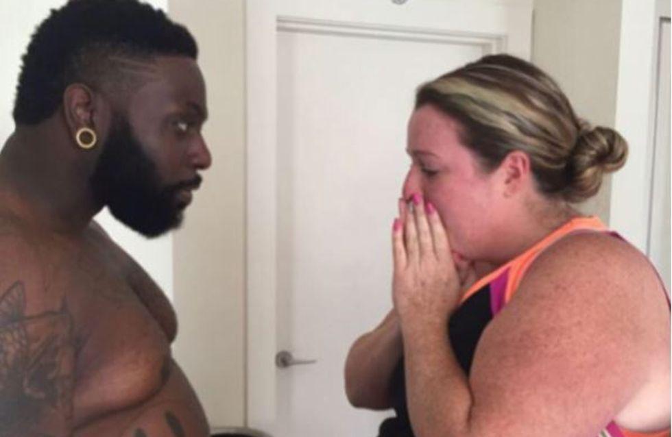 Ce coach sportif a pris 30 kilos pour aider sa cliente, leur transformation est incroyable (Photos)