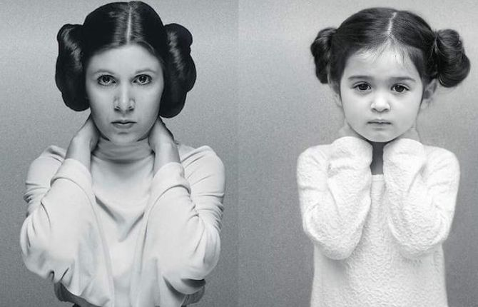 Scout imite la princesse Leia Organa