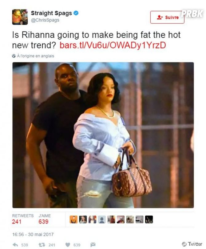 Victime de body-shaming, Rihanna contre-attaque