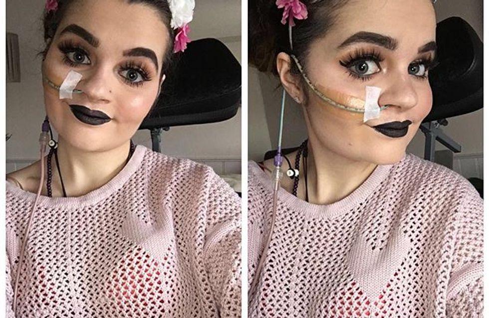 Grâce au maquillage, cette jeune malade a retrouvé confiance en elle (photos)
